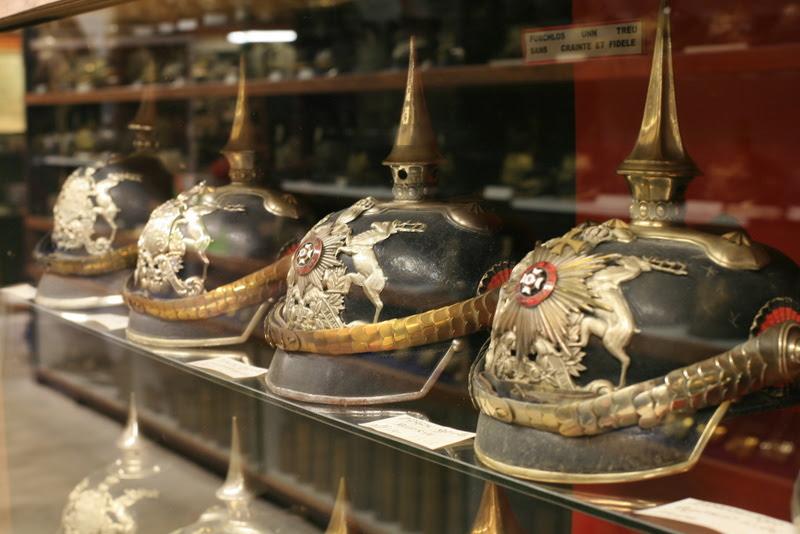 German military helmet collection at the Fort de la Pompelle Reims