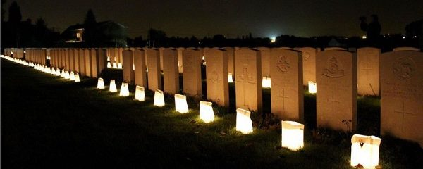Centenary of the end of The Great War Remembrance Vigil in northern France