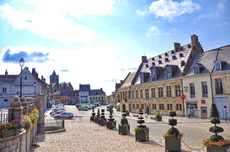 View of the Flemish style town of Cassel, Hauts-de-France