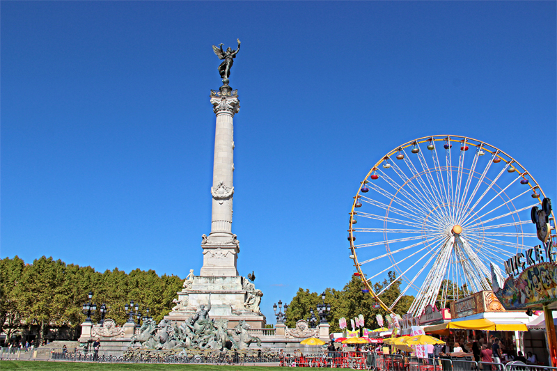 Quinconces, the largest square in Europe, Bordeaux's festive meeting place
