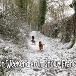 Bon weekend from snowy France!
