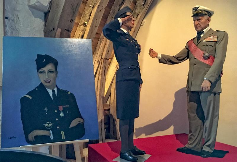 Portrait of Josephine Baker in uniform of World War II