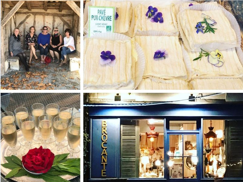 Cheese, Champagne and antiques enjoyed by women on a small group tour of Bordeaux, France