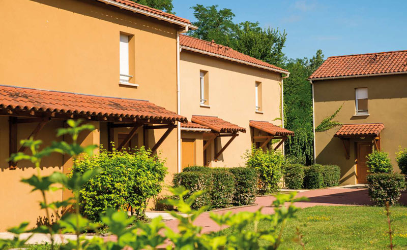 Charming little apartments and cottages surrounded by greenery