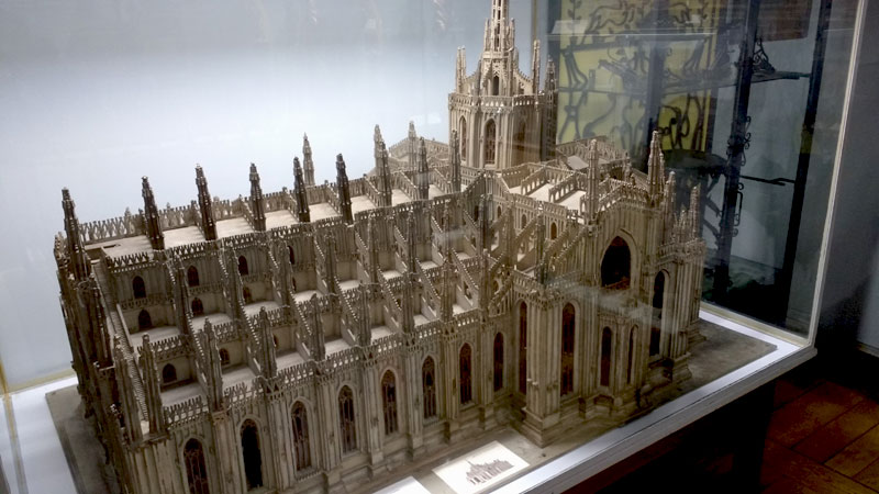 Model of a French Cathedral built to scale with enormous detail included