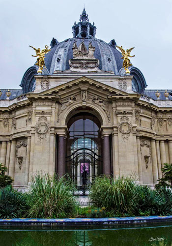 Dome and courtyard of the Petit Palais, one of the best free museums in Paris