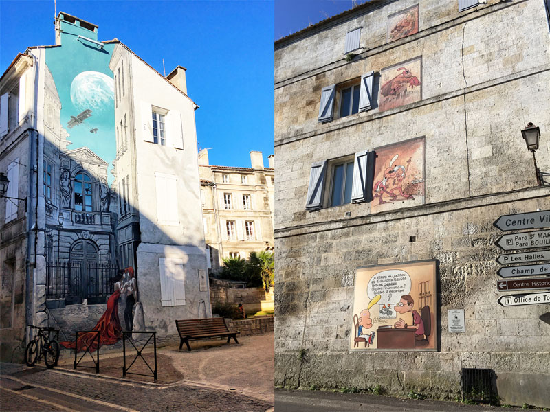Fantastic wall murals in Angouleme, street art capital of France