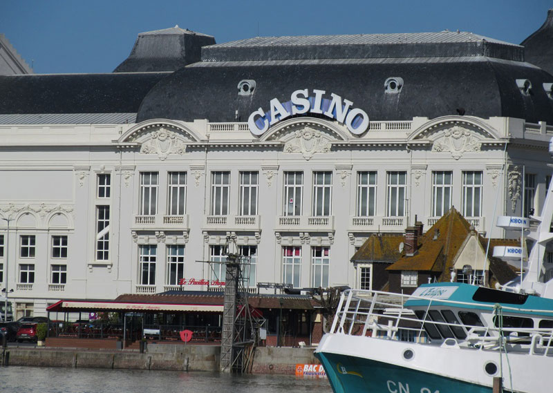 Palatial style Casino building alongside the port at Trouville in Normandy