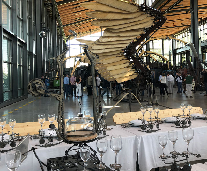 Giant wings and weird contraptions at the Halle de la Machine in Toulouse