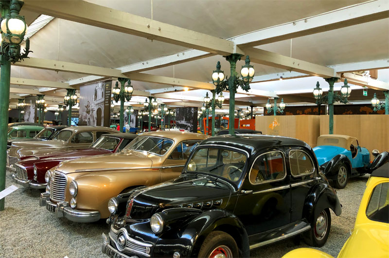 Hundreds of vintage cars at the Car Museum of Mulhouse France