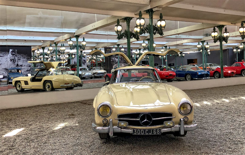 Gull wing door Mercedes at the Car Museum Mulhouse