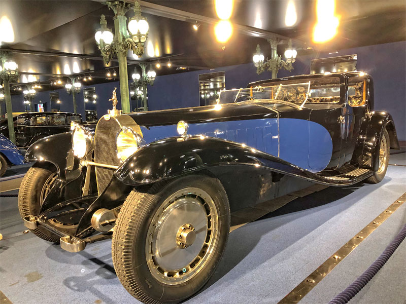 Bugatti royale, one of the most expensive cars in the world, gleaming at the Mulhouse Car Museum, France