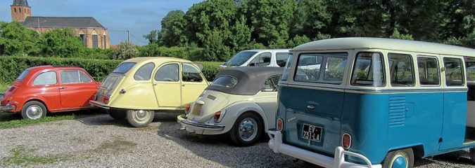 Vintage Cars and Campers, Bicycles and Bader in Saint Omer, northern France