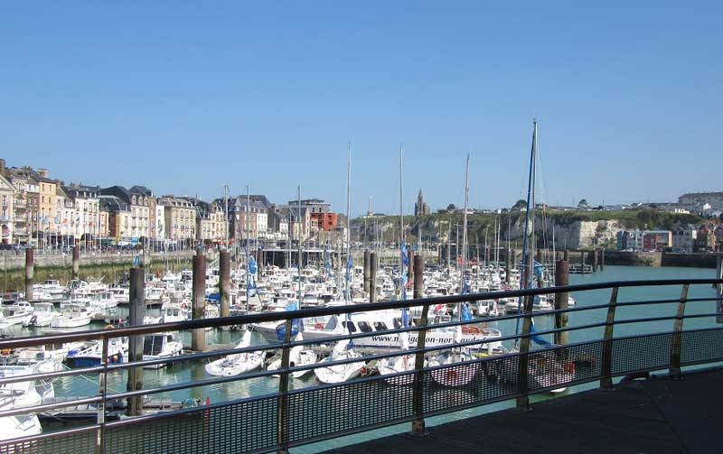 Harbour with boats in at Dieppe, Normandy