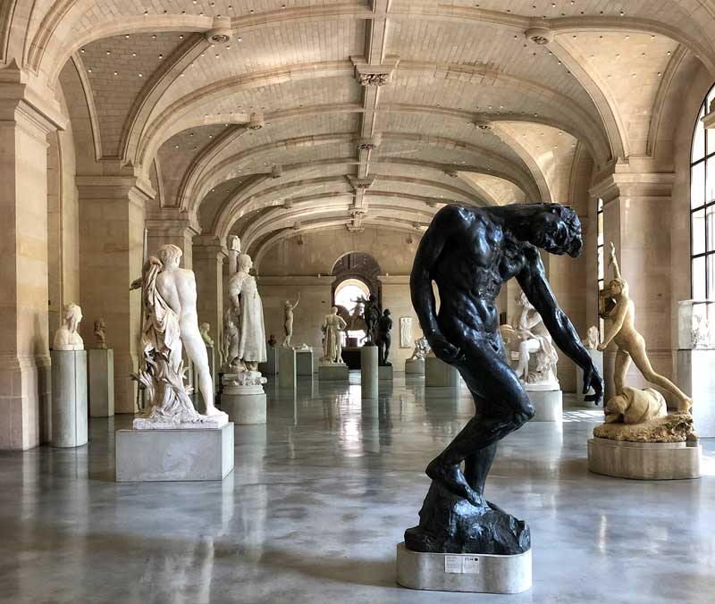 Stunning statues in a vaulted room of Lille Fine Arts Museum