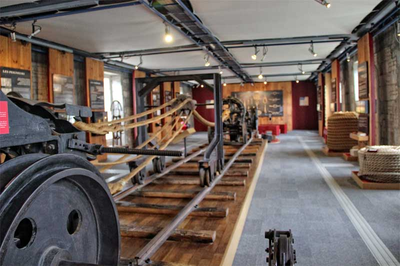 Inside the royal rope factory in Rochefort, France, machines which can make very long ropes