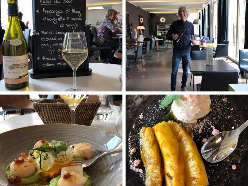 Inside restaurant of the Brasserie des Beaux Arts in Dijon