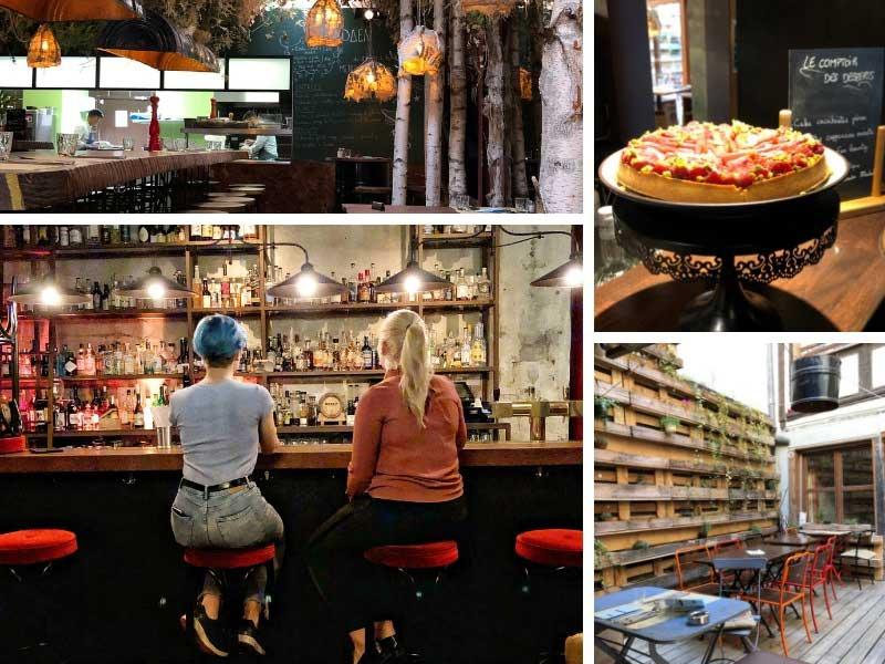 Two women sit at Aeden bar in Strasbourg