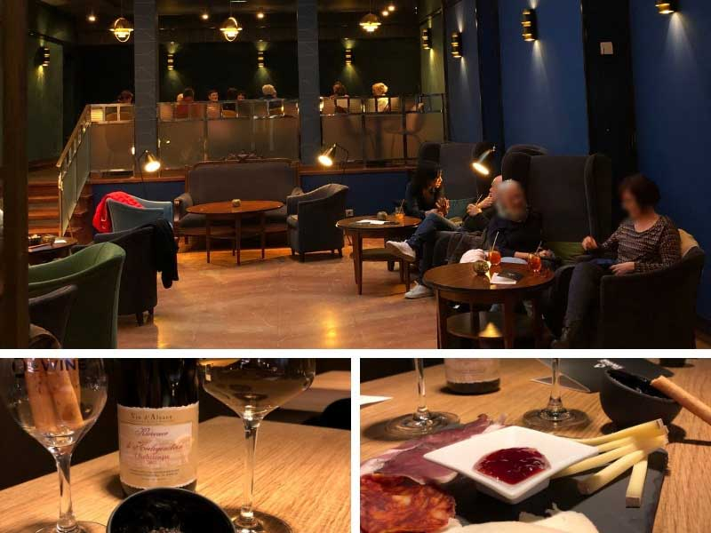 Chic and sophisticated interior or wine bar at the Hotel Hannong, Strasbourg