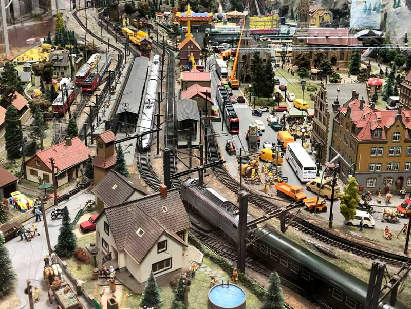 Very big miniature train set at Mulhouse train museum