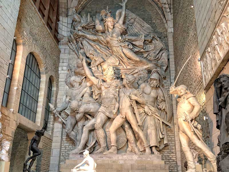 Cast of La Marseillaise sculpture on the Arc de Triomphe, on display at the Rude Museum in Dijon