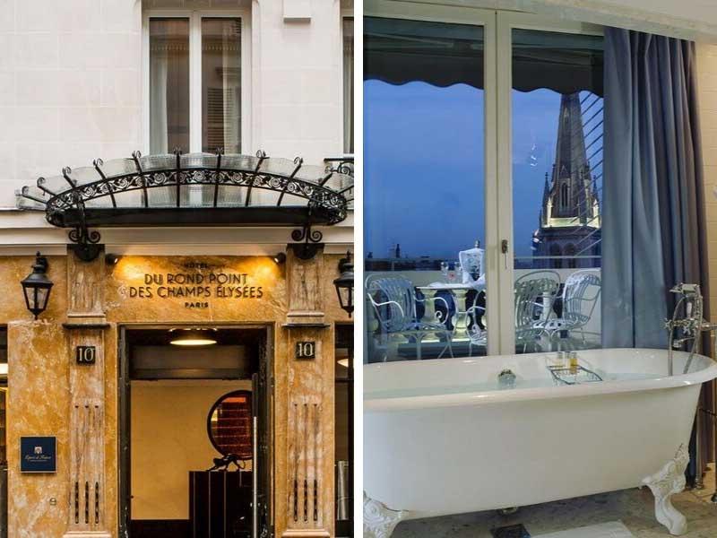 Facade and bathroom overlooking Paris