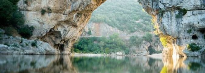 The Pont d'Arc and the Pont d'Arc Cavern, Ardeche