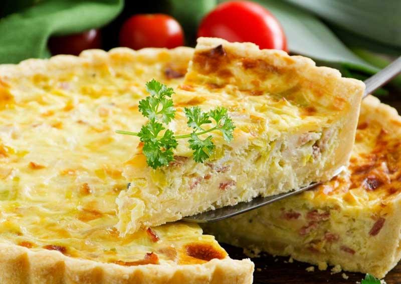 Cheesy, creamy quiche Lorraine