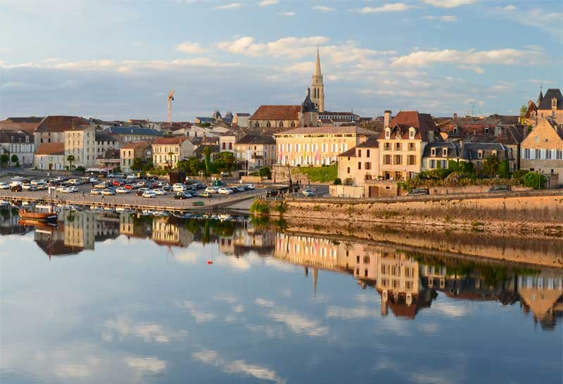 View of the town of Bergerac, Dordogne