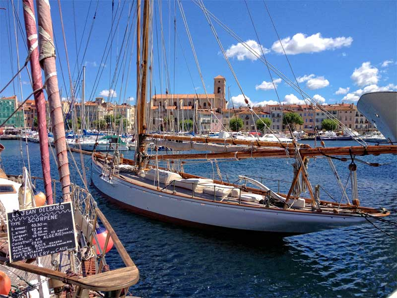 Traditional wooden boat in the port of La Ciotat, Provence