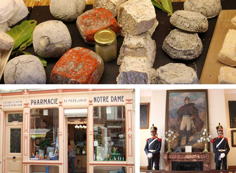 Cheese in the famous fromagerie of Boulogne-sur-Mer