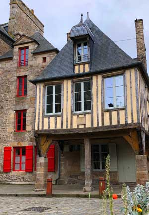 Half-timbered house in Dinan