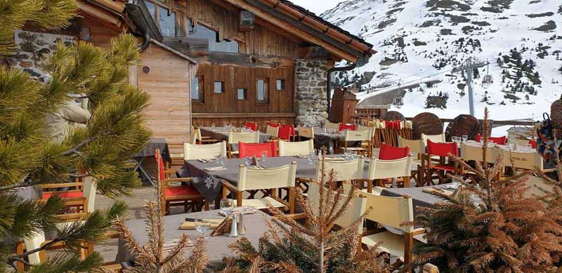 Mountaintop restaurant in Les Arcs, French Alps