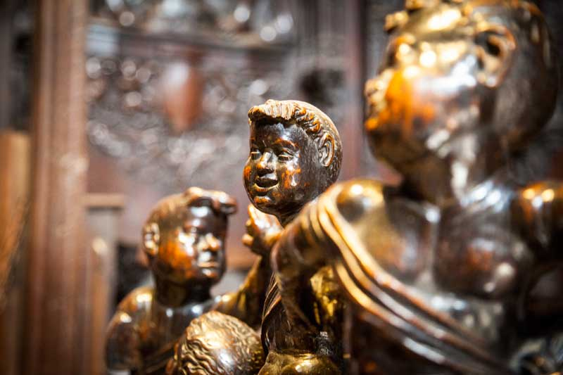 Wooden cherubs in the Cathedral of Auch, Gers