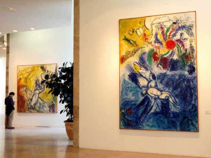 Artworks by Marc Chagall on display at the Chagall Museum, Nice, France