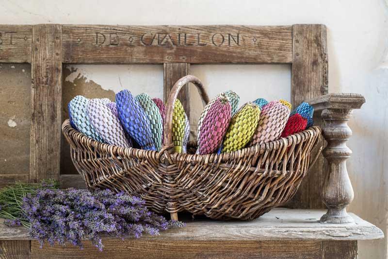 Basket of lavender wands