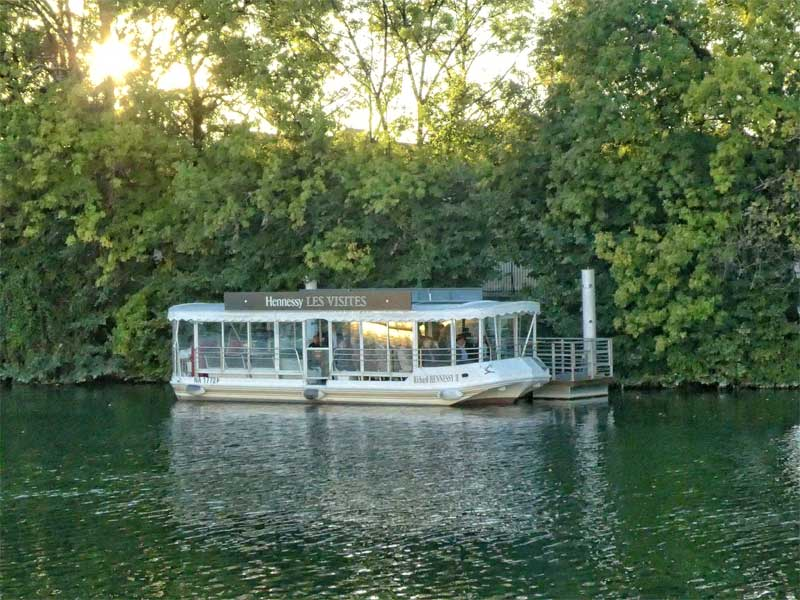 Hennessy Cognac tasting cruise boat on the river Charente