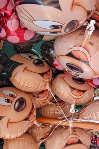 Mickey Mouse balloons at Disneyland Paris