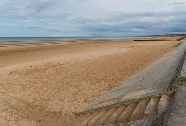 Wide sands at Omaha Beach, Normandy