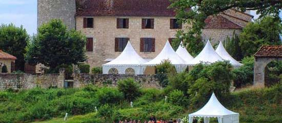 Beautiful chateau wedding venue in Dordogne France
