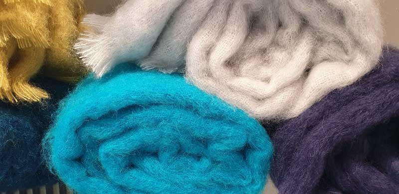 Beautiful coloured woollen cloth made in Isle-sur-la-Sorgue, Provence