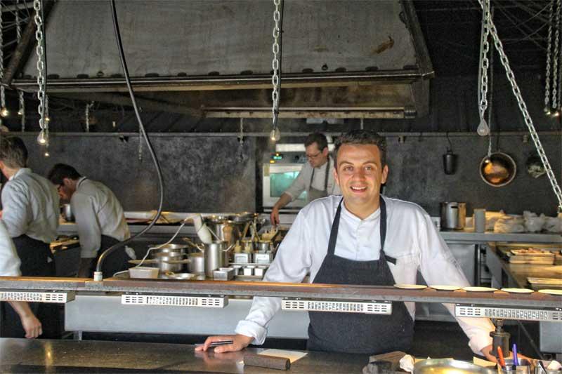 Alexandre Gauthier, star chef at his restaurant La Grenouillere, Montreuil-sur-Mer