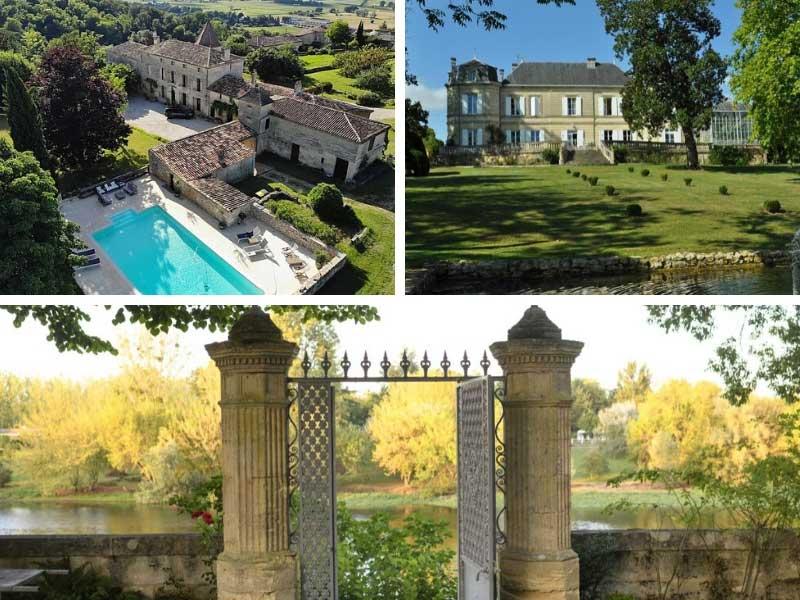 Castle facades in Bordeaux, France