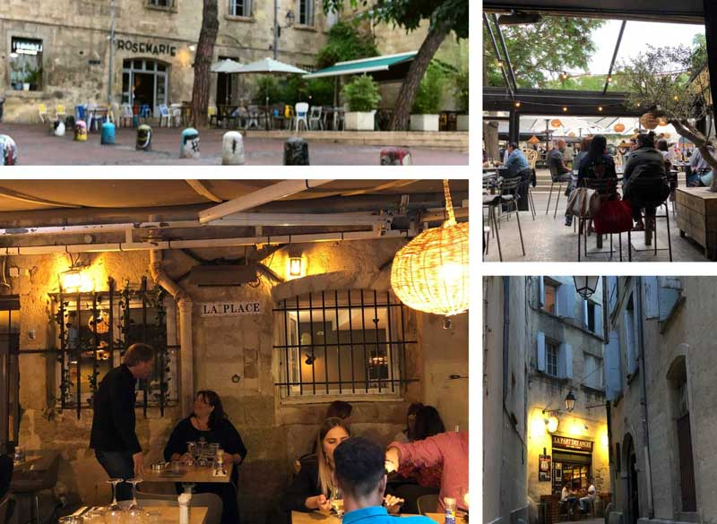 Restaurants in Montpellier, in narrow cobbled streets and elegant squares