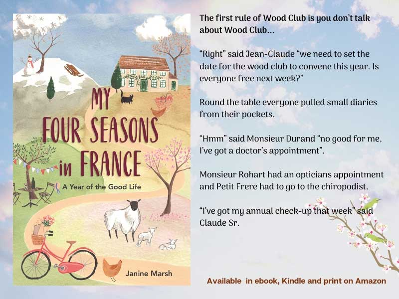 Book jacket of My Four Seasons in France by Janine Marsh