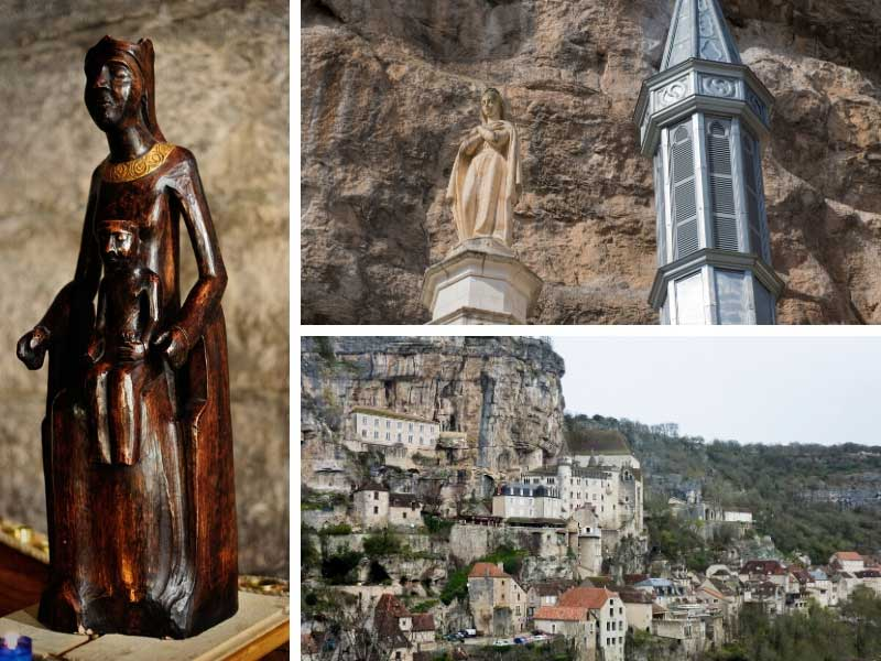 Wooden statue of the Virgin Mary at Rocamadour, France