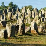 Magical standing stones of Carnac, Brittany