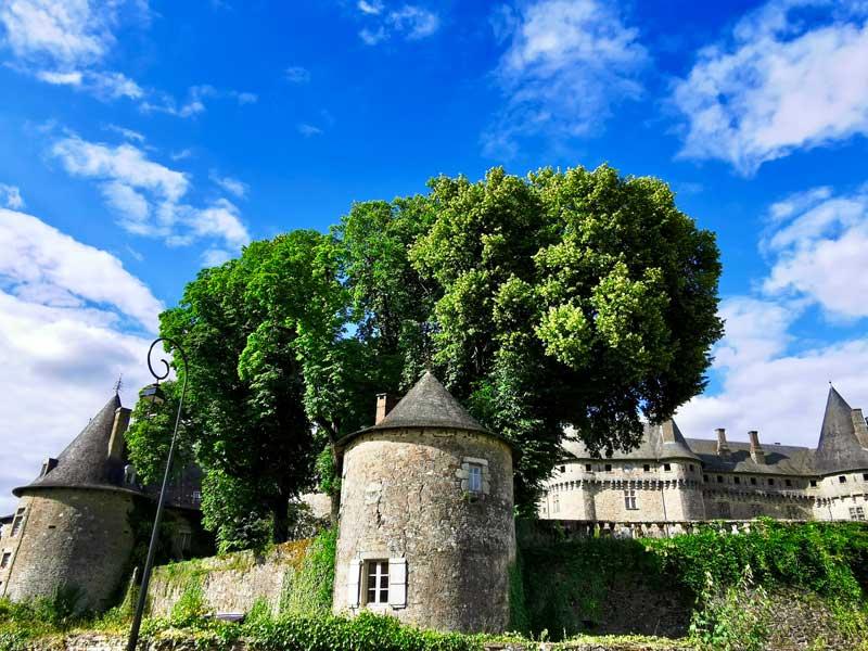 Town and castle of Arnac Pompadour, Correze, France