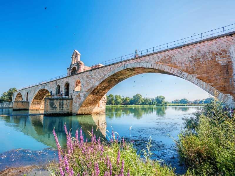 Pont d'Avignon, Avignon over Rhone River