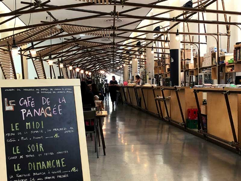 Funky style cafe at the Panacee Museum, Montpellier,